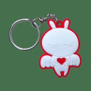Silicone HF Keychain Tag - Angel (Customizable)